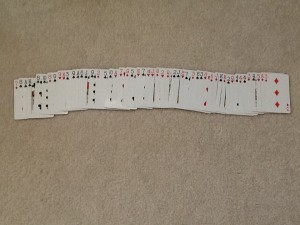 Deck Of Cards Spread Out